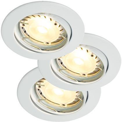 Set 3 spoturi orientabile incastrate Recess LED Hi-Power alb 20240101NL, Spoturi LED incastrate, aplicate, Corpuri de iluminat, lustre, aplice a