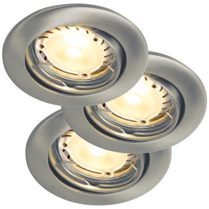Set 3 spoturi orientabile incastrate Recess LED Hi-Power BS 20240132NL, Spoturi LED incastrate, aplicate, Corpuri de iluminat, lustre, aplice a