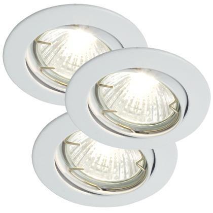 Set 3 spoturi orientabile incastrate Recess alb 20060101NL, Spoturi incastrate, aplicate - tavan / perete, Corpuri de iluminat, lustre, aplice a