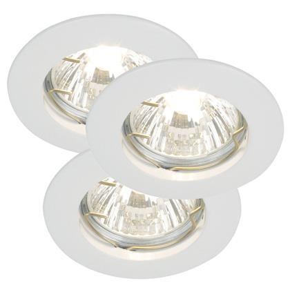 Set 3 spoturi orientabile incastrate Solid alb 20080101NL, Spoturi incastrate, aplicate - tavan / perete, Corpuri de iluminat, lustre, aplice a