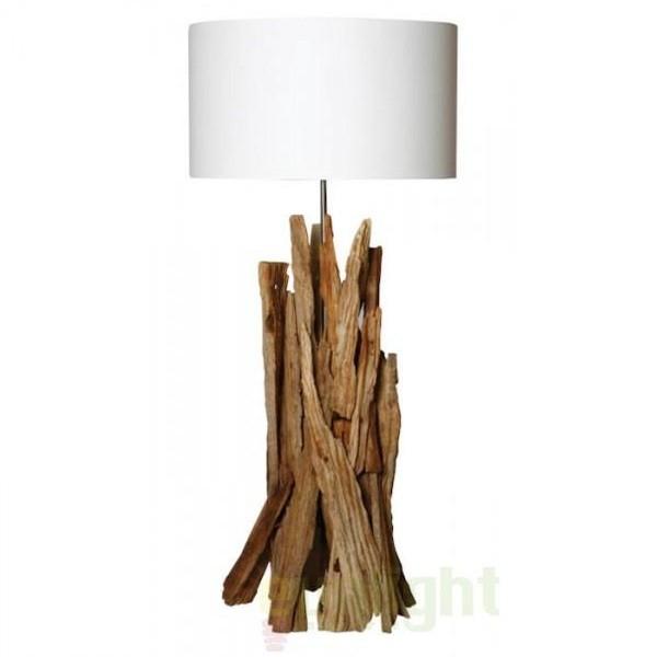 Veioza, lampa de masa, design etnic, H-100cm, Taiga FL, Lampadare clasice, Corpuri de iluminat, lustre, aplice a