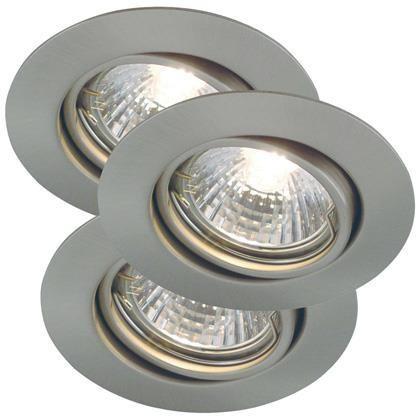 Set 3 spoturi orientabile incastrate 35W GU10 Triton BS 54480132NL, Spoturi incastrate, aplicate - tavan / perete, Corpuri de iluminat, lustre, aplice a