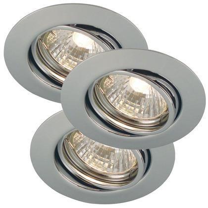 Set 3 spoturi orientabile incastrate 35W GU10 Triton chrome 54480129NL, Spoturi incastrate, aplicate - tavan / perete, Corpuri de iluminat, lustre, aplice a