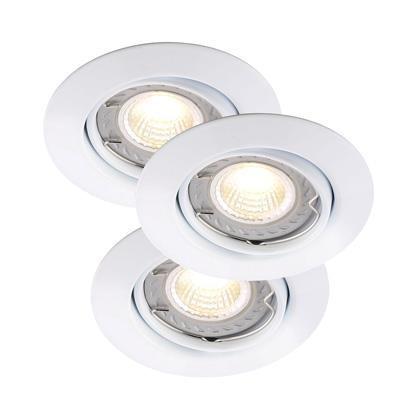 Set 3 spoturi orientabile incastrate Triton alb LED COB DIM 78840001NL, Spoturi LED incastrate, aplicate, Corpuri de iluminat, lustre, aplice a